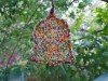 Decoration Bell Multicoloured Beads