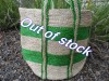Basket Large Jute Green Tracks