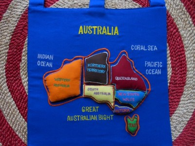 Map/ Puzzle Velcro Australia Wall Hanging