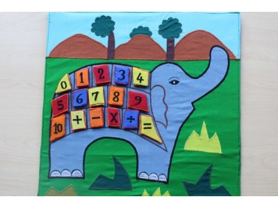 Elephant Number Learning Chart/Display Feature