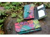 Wallet Small Tropical Flowers Leather