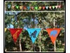 Bunting jungle animals blockprint
