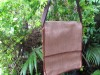 Mans Shoulder Bag Brown Waves Jute
