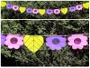 Bunting Lime, Pink and Purple