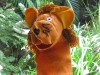 Lion hand puppet large