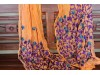 Shawl Orange with Purple Flowers